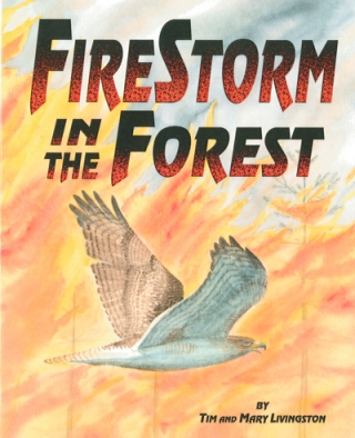 - - - - FireStorm in the Forest  - - -  by Tim and Mary A Livingston.   Illustrated by Tim Livingston.  2006 Red Tail Publishing
